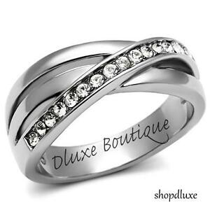 WOMEN-039-S-ROUND-CUT-AAA-CZ-STAINLESS-STEEL-ANNIVERSARY-FASHION-RING-BAND-SIZE-5-10