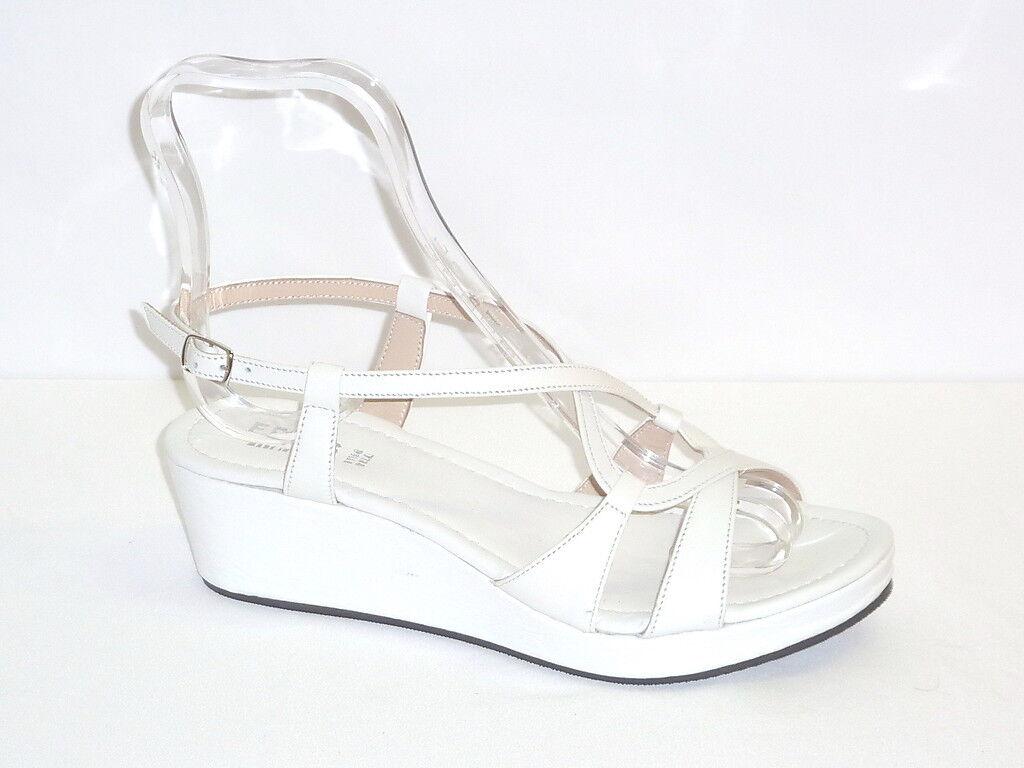 Zapatos ZEPPE mujer SANDALI MODA ESTATE PELLE BIANCO Molinoline 40