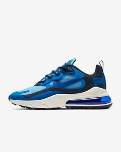 Details about Nike Air Max 270 React CI3866-400 Pacific Blue Black White  Mens Running Sneakers