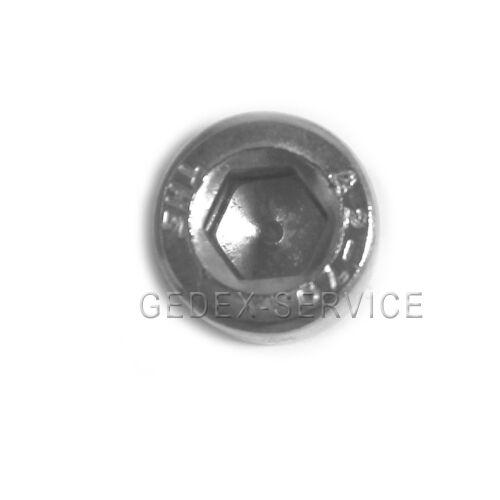 50 St Innensechskantschrauben Zylinderkopf  DIN 912 M1,6x6 EDELSTAHL