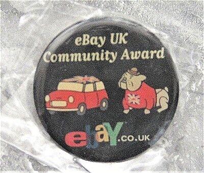 2003 Ebay Uk Community Award Pin Old Logo Brand New Taxi Bulldog Ebay