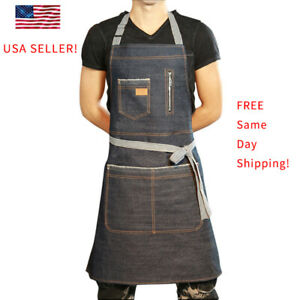 Household Apron Cafe Chef Waiter Barista Workwear Pinafore Home Kicthen Cooking