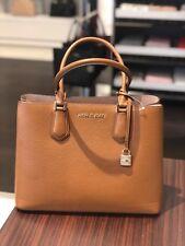 59473c731016 Michael Kors Adele Luggage Leather Large Satchel Bag 35t8gafs3l for ...