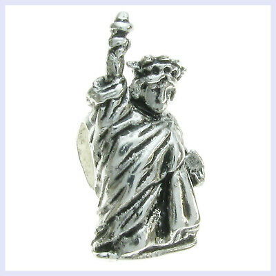 925 Sterling Silver Usa New York Statue Of Liberty Travel Dangle Bead For European Charm Bracelet