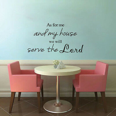 As for me and my house Christian Verse Vinyl Decal Stickers Wall Stickers DIY