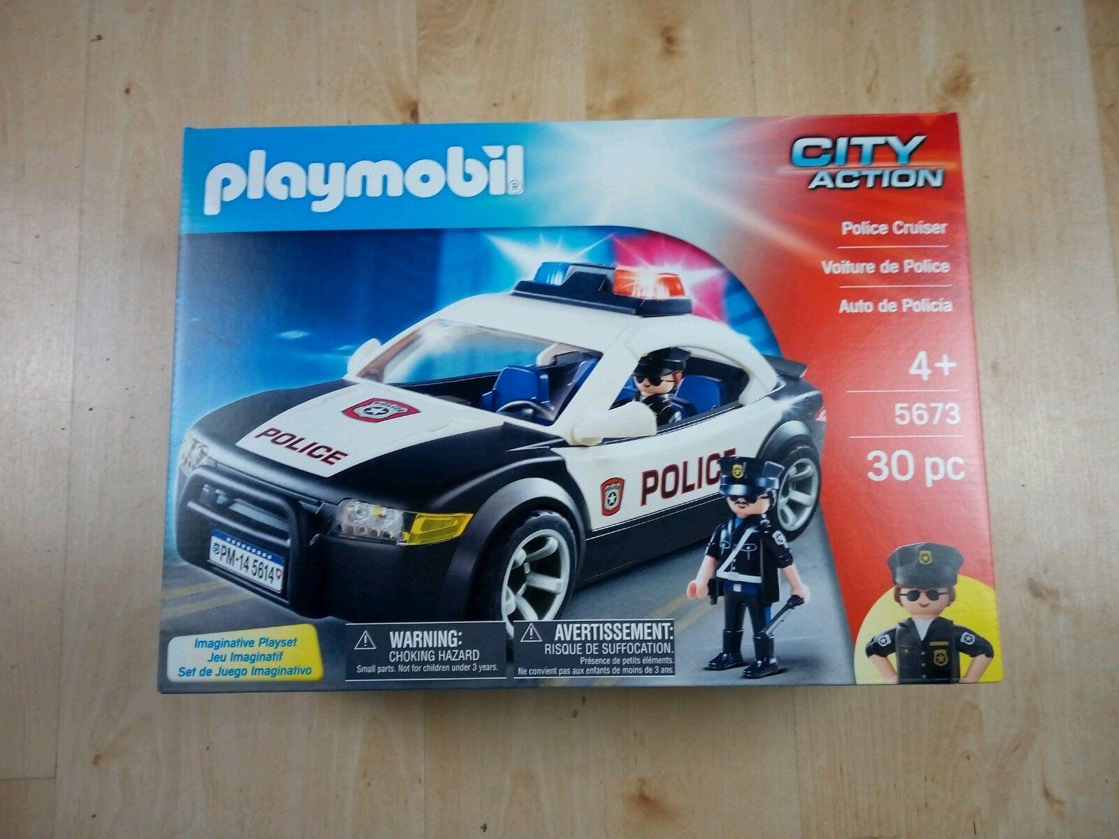 Playmobil City Action Police Car Cruiser 5673  flashing lights siren