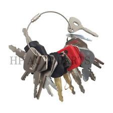 16 Keys Construction Keys Heavy Equipment Keys Set For Cat Komatsu Volvo Deere