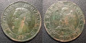 Napoleon-III-5-Cents-Bare-Head-1855-B-Rouen-Anchor-F-116-19