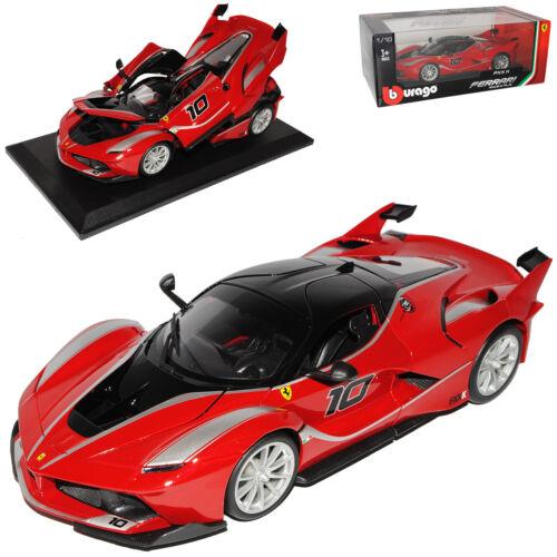 Ferrari FXX K Coupe Rot Nr 10 mit Sockel 18-16010 1//18 Bburago Modell Auto mit..