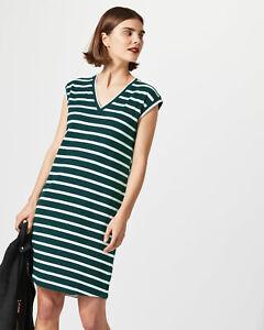 b6d84a87c42 New Jigsaw Breton Stripe Navy & White T Shirt Dress Sz S UK 10 | eBay