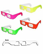 50 pairs 3D Fireworks Glasses Neon Multi Starbursts of Color for Displays