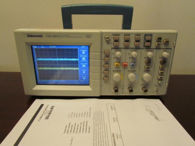 Tektronix TDS2012 100MHz 2 Channel 1 GS/s Digital Color Oscilloscope - Cal'd