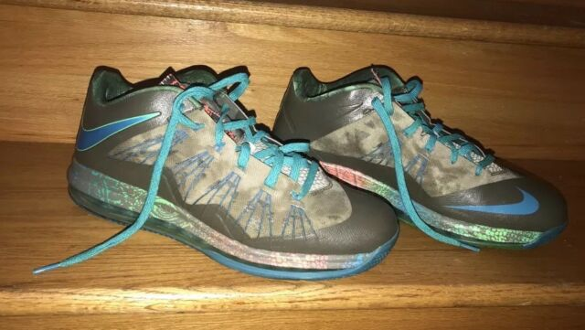87982908f765 Nike Air Max Size 12 Lebron X 10 Low SWAMP THING US Reptile Elite 57965-