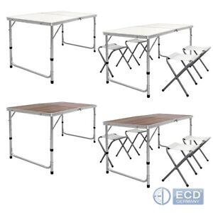Détails sur Table de Camping Table pliante pique-Table Table De Jardin  Table valise aluminium 120 cm- afficher le titre d\'origine