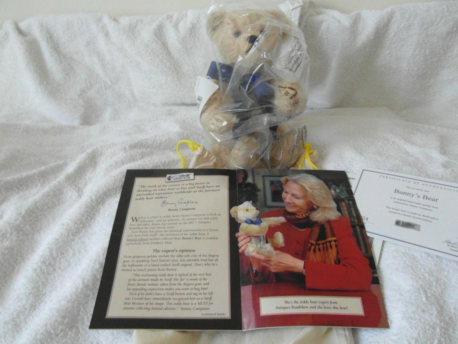 Rare Steiff Bunny s Bear Ltd Ed 2 500 500 500 Were Ever Made 2006 Brand New Condition. 1a5e95