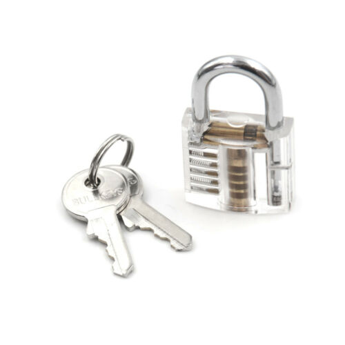 Locksmith Transparent Padlock Visible Cutaway Practice Padlock Lock Skill PicZP