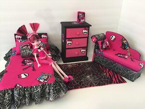 Details About Monster High Bedroom Furniture Set Draculaura Bed Sofa Chest Bed Set Lamp