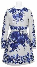 nwt valentino blue and  white floral print dress size small 36