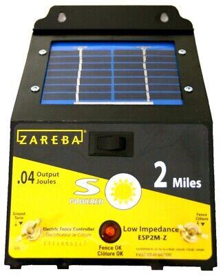 NEW FI-SHOCK ESP2M-FS 4 VOLT 2 MILE ELECTRIC FENCE ENERGIZER SOLAR POWER 6865745