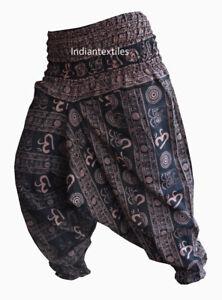Nuevo Algodon Indio Yoga Hombre Mujer Elegante Holgado Estilo Haren Pantalones De Danza Pantalones Ebay