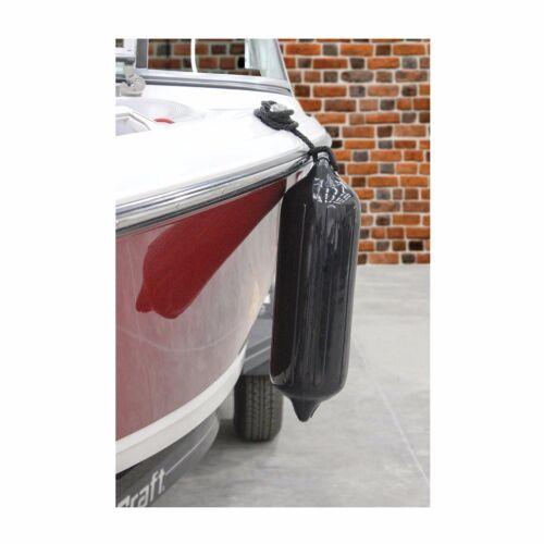 "4 Pack Boat Fender 6.5/"" x 23/"" Vinyl Ribbed Bumper Dock Shield Protection Black"