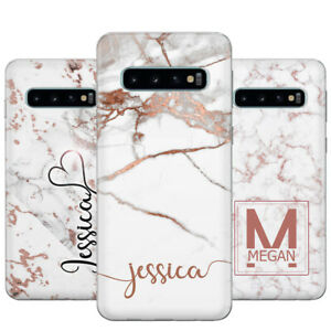 san francisco 204c9 cf882 Details about PERSONALISED CASE FOR SAMSUNG GALAXY S10 ROSE GOLD MARBLE  CUSTOM NAME GEL COVER