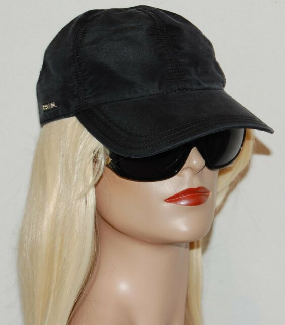 NWT Prada  Made In italy  Baseball Cap hat Black  28c1e0d63728