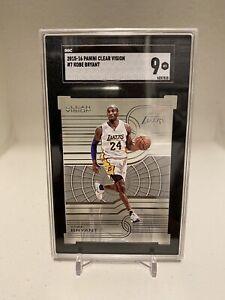 2015-16 Clear Vision Acetate #07 Kobe Bryant Lakers 🔥 SGC Mint 9 🔥 HOF!