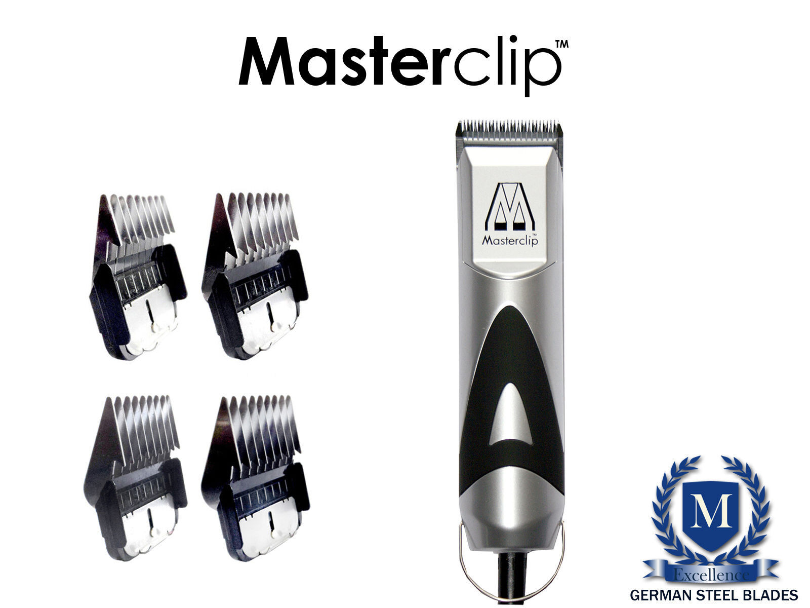 Pedigree Pro Dog Clipper & 10F blade by Masterclip  & 4 Metal Combs ex demo