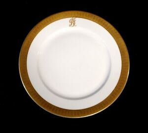Stunning-Rosenthal-Selb-Plossberg-Gold-Encrusted-Aida-Lunch-Plate