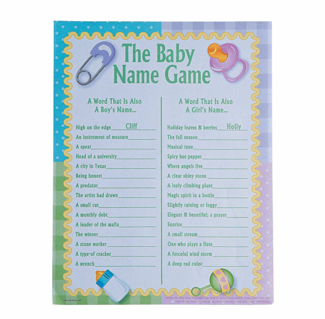 Baby Names Baby Shower Game 24 Players Fun For Sale Online