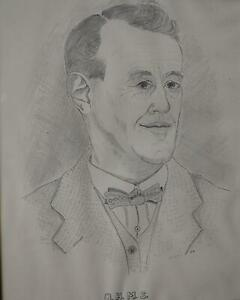Portrait-Study-of-a-Gentleman-Graphite-Harry-Maycock-c1950s-From-a-Collection