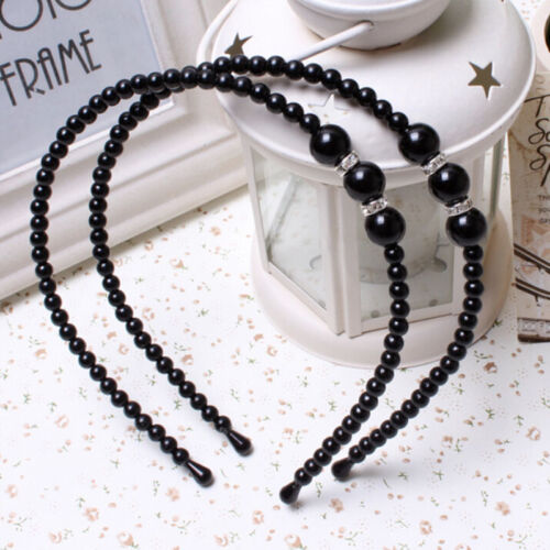 1 X Beautiful Rhinestone Headband With Pearls Hair Decorations For Baby Girls CL