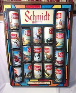 Schmidt Beer Plastic Beer Can Display Collector Series W