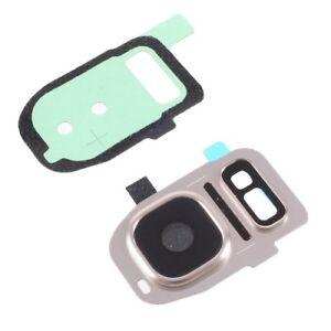 ORO-Vidrio-Lente-Camara-Trasera-Flash-Etiqueta-engomada-para-Samsung-Galaxy-S7