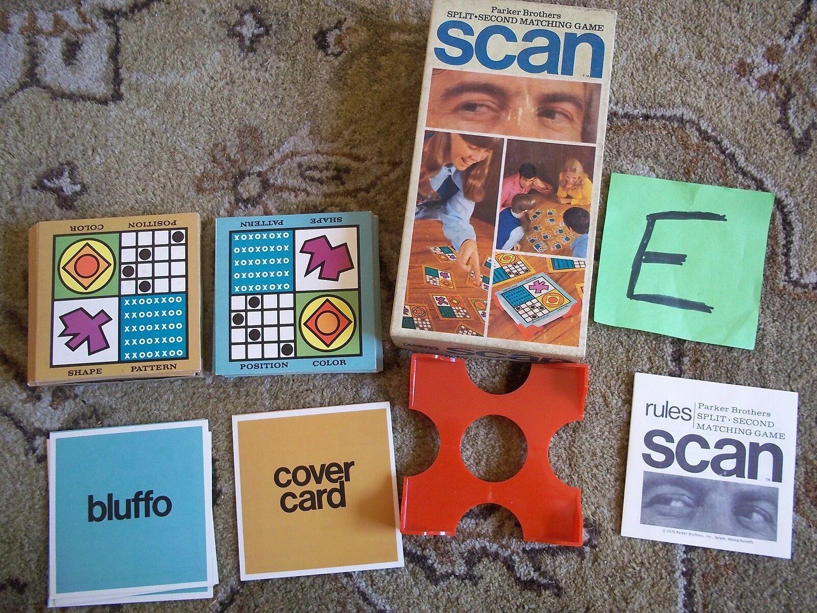 Vntg 1970 parker bros scan sekunde passende spiel 2 spieler   750