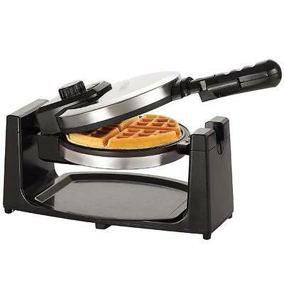 BELLA Classic Rotating Belgian Waffle Maker, Polished Stainless Steel New