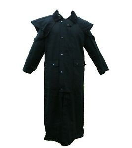 Campbell-Cooper-New-Mens-Ladies-Long-Walking-Riding-Wax-Coat-Jacket-Black