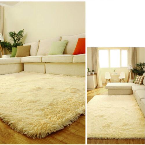 New Fluffy Anti-skid Shaggy Area Rug Dining room Carpet Home Bedroom Floor Smtp