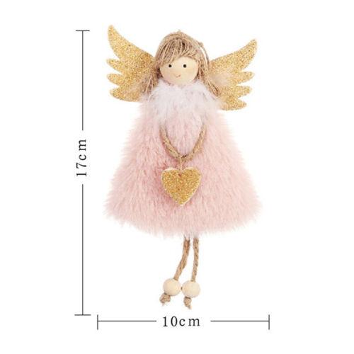 Angel Christmas Tree Ornament Cute Girl Plush Doll Hanging Pendant Xmas G ji UNH
