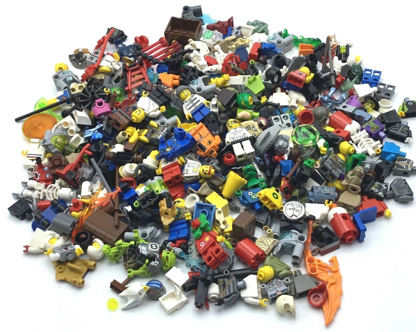 LEGO HUGE ONE POUND LOT OF MINIFIGURES BODY PARTS & ACCESSORIES BULK MIX