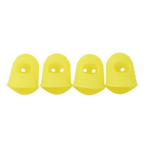 4 Pcs Useful Guitar Fingertip Protectors Silicone Finger Guards Supplies SG