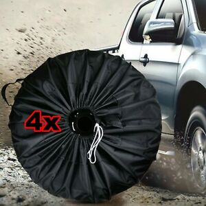 4PCS-Waterproof-Spare-Tyre-Cover-210D-Oxford-Wheel-Protector-Storage-Bag