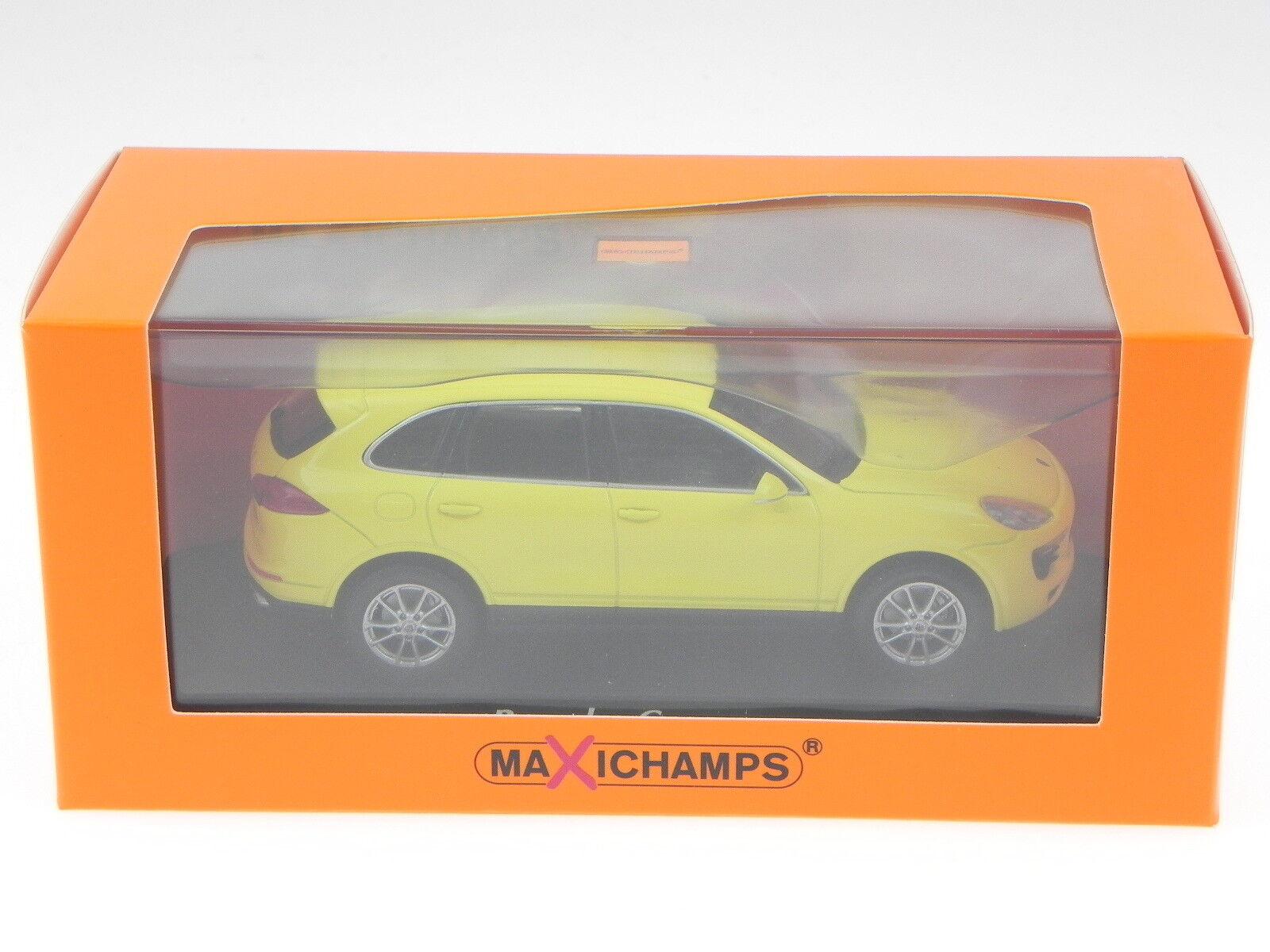 Porsche Cayenne 2014 amarillo coche coche coche en miniatura 940063201 Maxichamps 1 43 2586ba