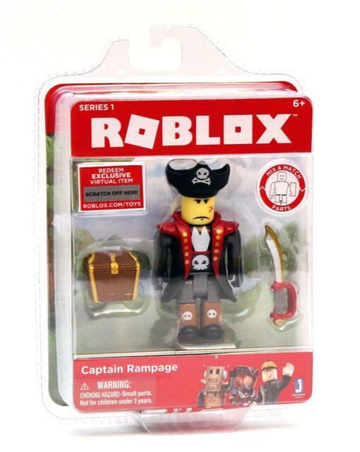 New Roblox Series 1 Action Figure Captain Rampage Jazwares