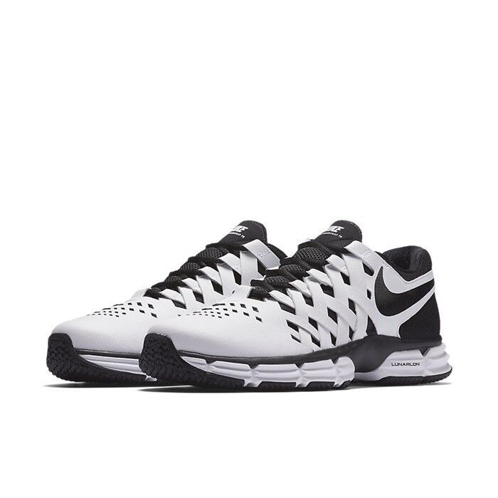 NIB Men's Nike Lunar Fingertrap TR Black/White 898065 100 SHOES