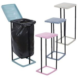 60l Collapsible Garbage Bin Bag Holder Stand Plastic