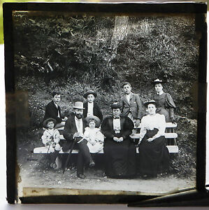 Vintage-glass-slide-Family-photo