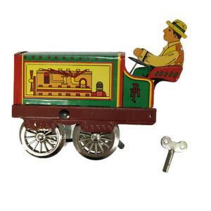 Wind-up-Tractor-Driver-Farm-Construction-Clockwork-Mechanical-Tin-Toy-Gift