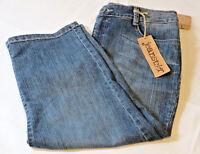 Jeanstar Premium Denim Clair Capri 12 Stretch Womens Ladies Pants Crop Blue
